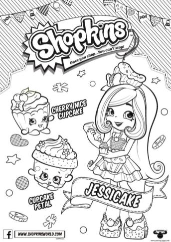 Shopkins Coloring Pages Printable Jessicake Loves Cupcakes