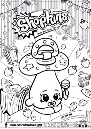 Shopkins Coloring Pages for Free Dum Mee Mee