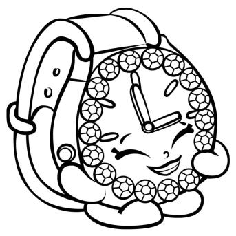 Shopkins Coloring Pages for Kids Happy Alarm Clock