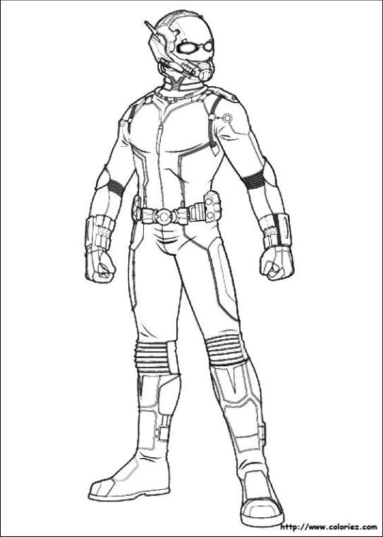 Superhero Coloring Pages Antman