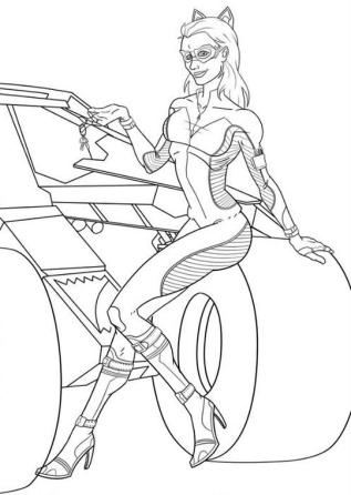 Superhero Coloring Pages Catwoman