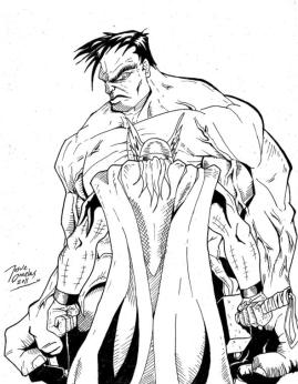 Superhero Coloring Pages For Adult Hulk and Thor About to Fight