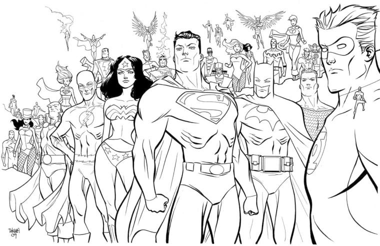 Superhero Coloring Pages Free Online All the Powerful Superheroes by DC