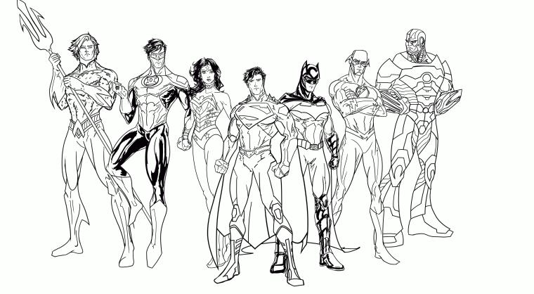 Superhero Coloring Pages Free Online Justice League Superheroes