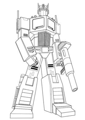 Superhero Coloring Pages Preschool Optimus Prime from Transformers