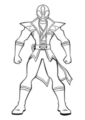 Superhero Coloring Pages Preschool Silver Power Ranger Ninja