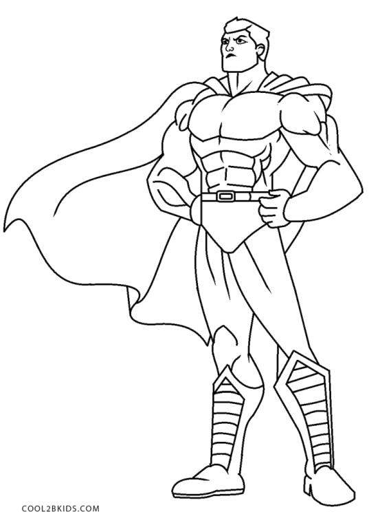 Superhero Coloring Pages for Toddlers Strong and Awesome Superhero