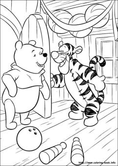 Winnie the Pooh Coloring Pages Cute Tiger Inviting Pooh to His Party