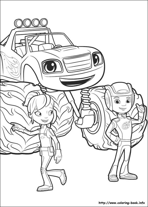 Blaze Coloring Pages Blaze and Gabby