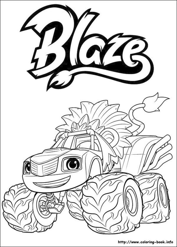 Blaze Coloring Pages Fiery Monster Truck