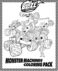 Blaze Coloring Pages Online Blaze and the Monster Machines