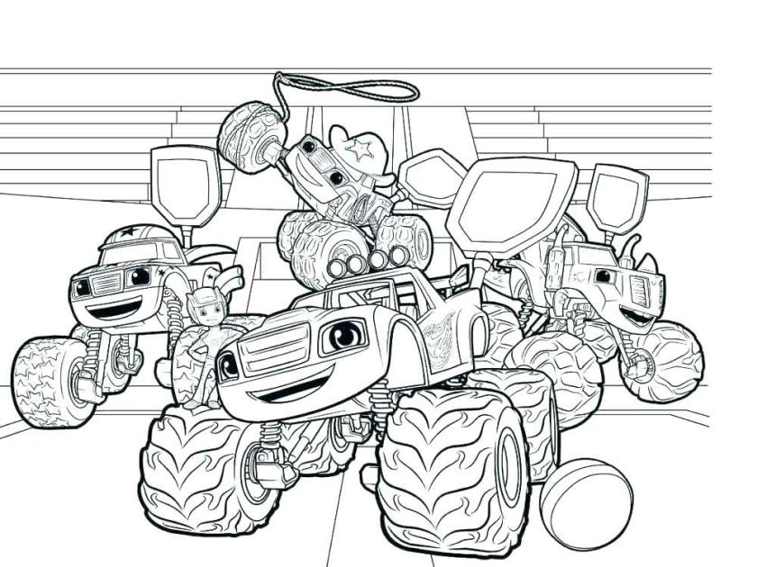 Blaze Coloring Pages Printable Blaze and the Monster Machines