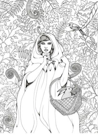 Cute and Hard Coloring Pages Little Red Riding Hood