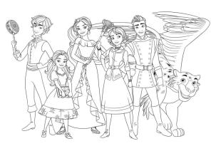 Disney Elena of Avalor Coloring Page All the Characters from Elena of Avalor
