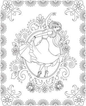Elena of Avalor Coloring Page Printables Elena Can Dance Too