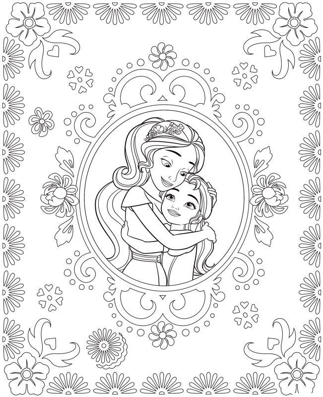 Elena of Avalor Coloring Page Printables Elena Loves Her Sister Isabel