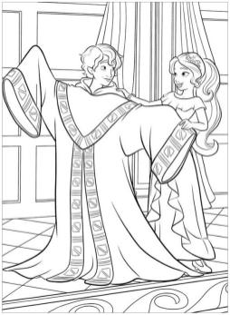 Elena of Avalor Coloring Pages Elena and Mateo