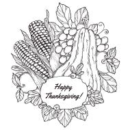 Free Thanksgiving Coloring Sheets for Adults Happy Thanksgiving Card Coloring Printable