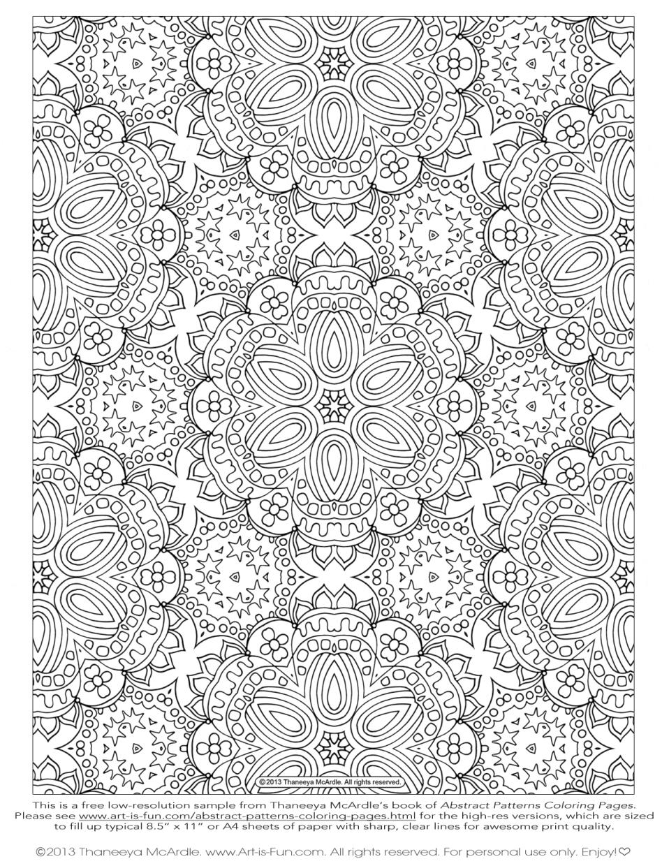 Hard Coloring Pages Abstract Patterns