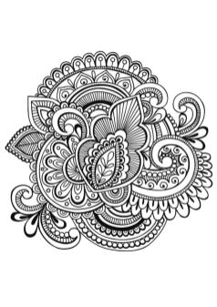 Hard Coloring Pages Printable Free Paisley Zentangle