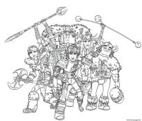 How to Train Your Dragon Coloring Pages for Kids All the Dragon Riders