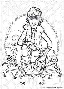 How to Train Your Dragon Coloring Pages to Print Teenage Hiccup