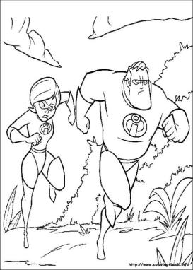 Incredibles Coloring Pages Free The Incredible Couple