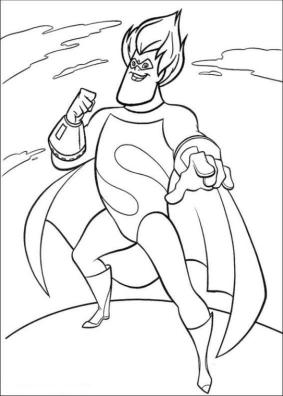 Incredibles Coloring Pages for Kids Syndrome the Villain