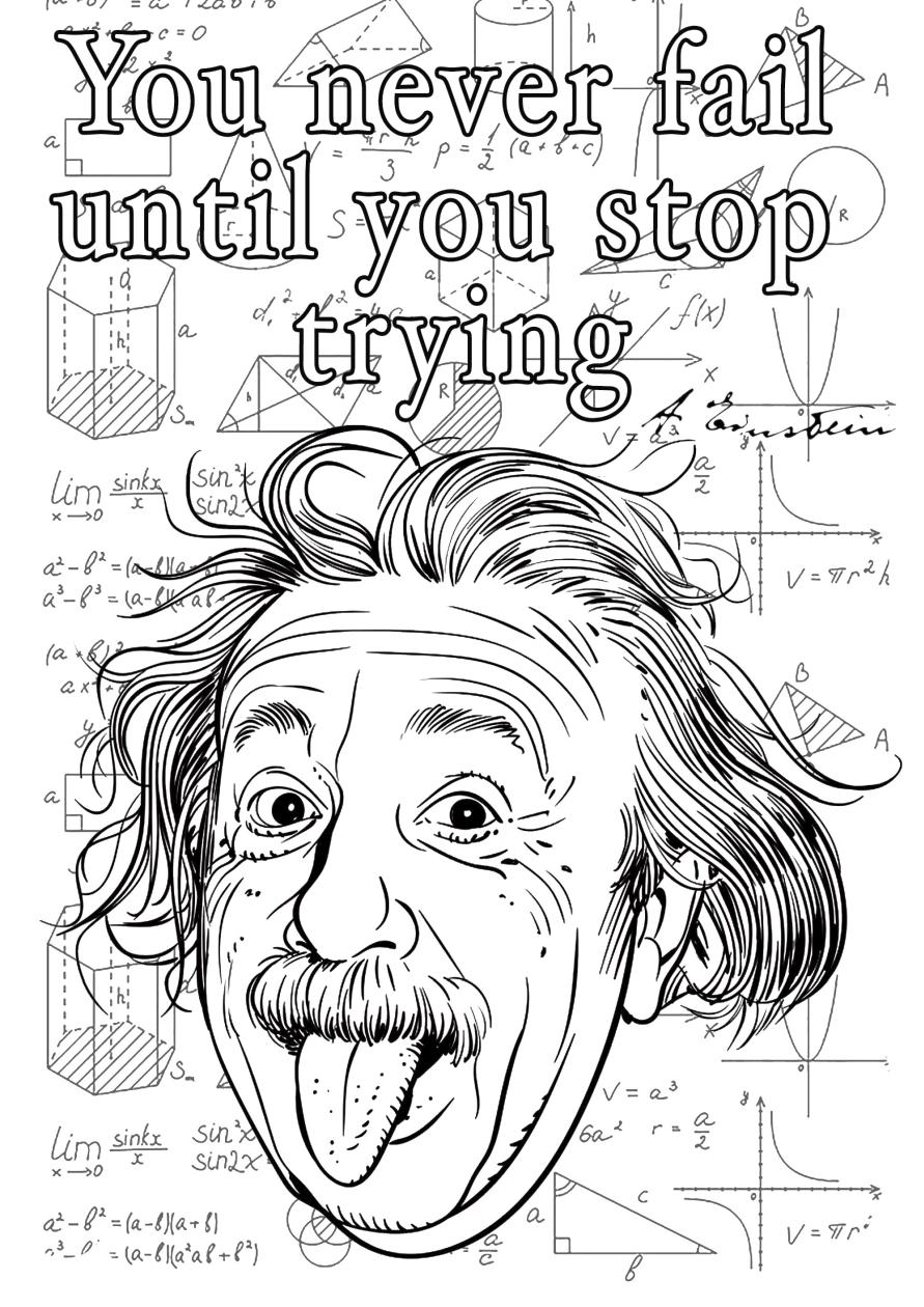 Inspirational Coloring Pages Printable Never Stop Trying