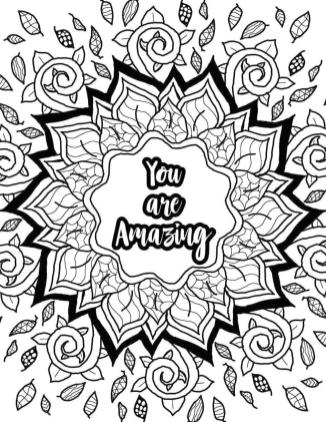 Inspirational Coloring Pages for Students You Are Amazing