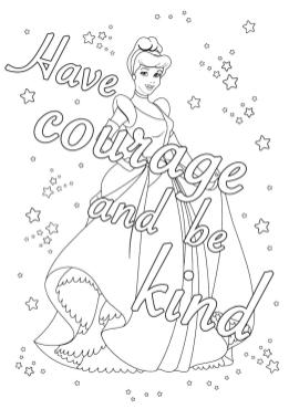 Inspirational Coloring Pages to Print Have Courage