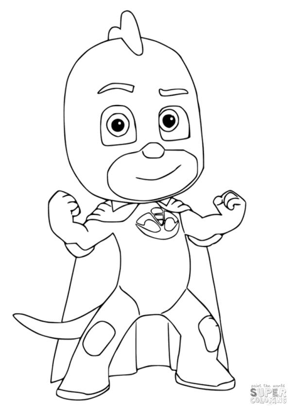PJ Masks Coloring Pages Gecko The Dinosaurs Kid