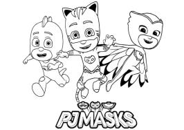 PJ Masks Coloring Pages Printable Three Best Friends