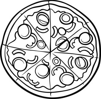 Pizza Coloring Pages Large Size Pizza
