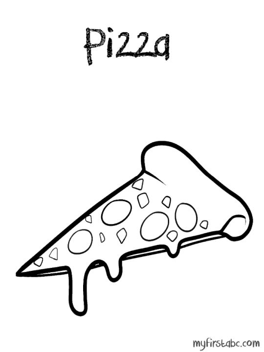 Pizza Coloring Pages Printable Pizza with Melting Cheese