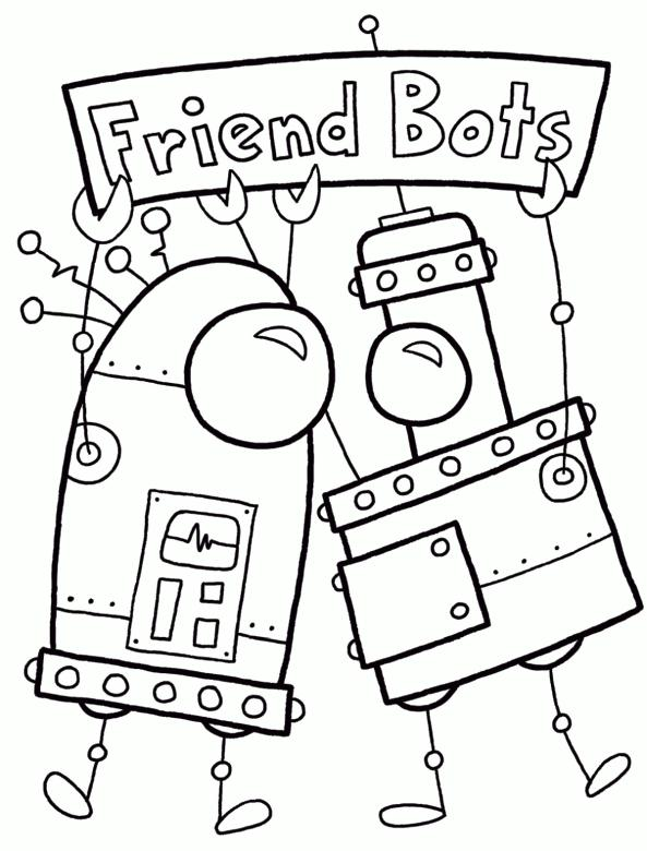 Robot Coloring Page Images Friend Robot Minion