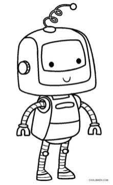 Robot Coloring Pages Printable Cute Robot Kid