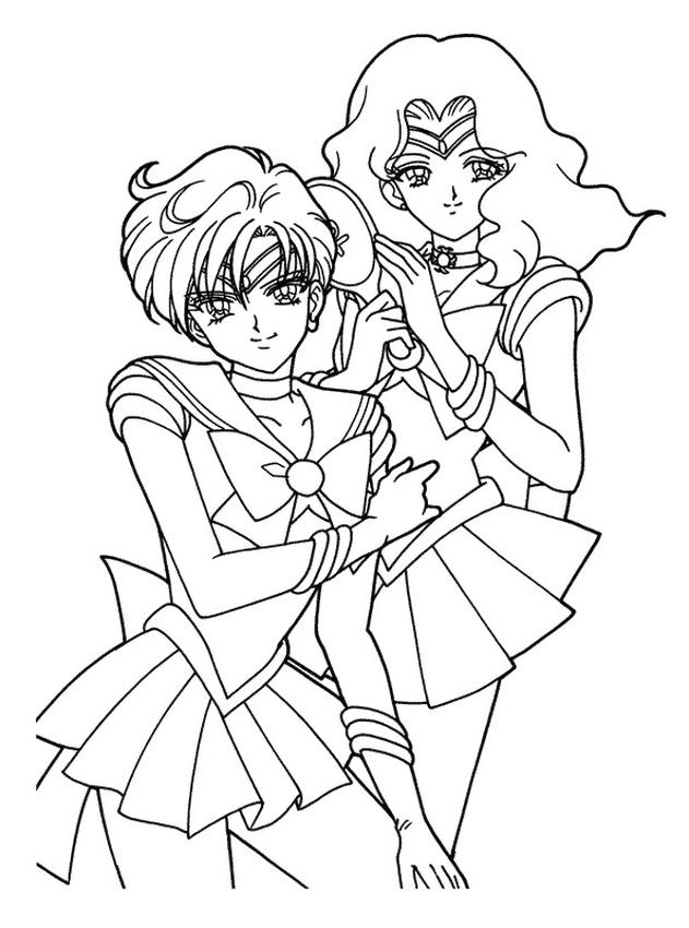 Sailor Moon Coloring Pages for Girls Beautiful Heroes