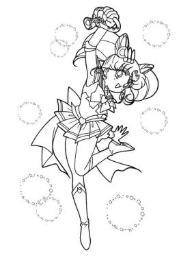 Sailor Moon Coloring Pages for Girls Cute Little Anime Girl