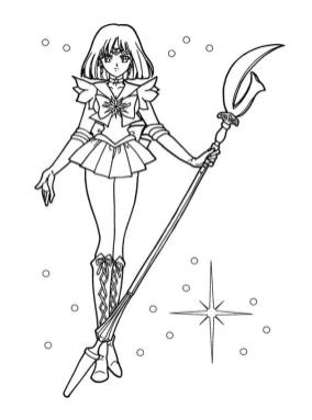 Sailor Moon Coloring Pages for Girls Ready for Action