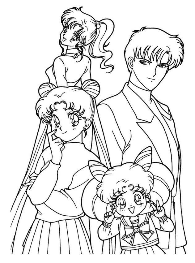 Sailor Moon Coloring Pages for Girls Sailor Moon and Friends