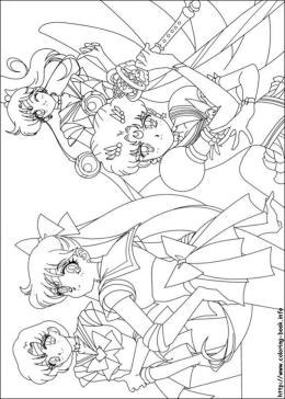 Sailor Moon and Friends Coloring Pages The Girls Just Saved the Day