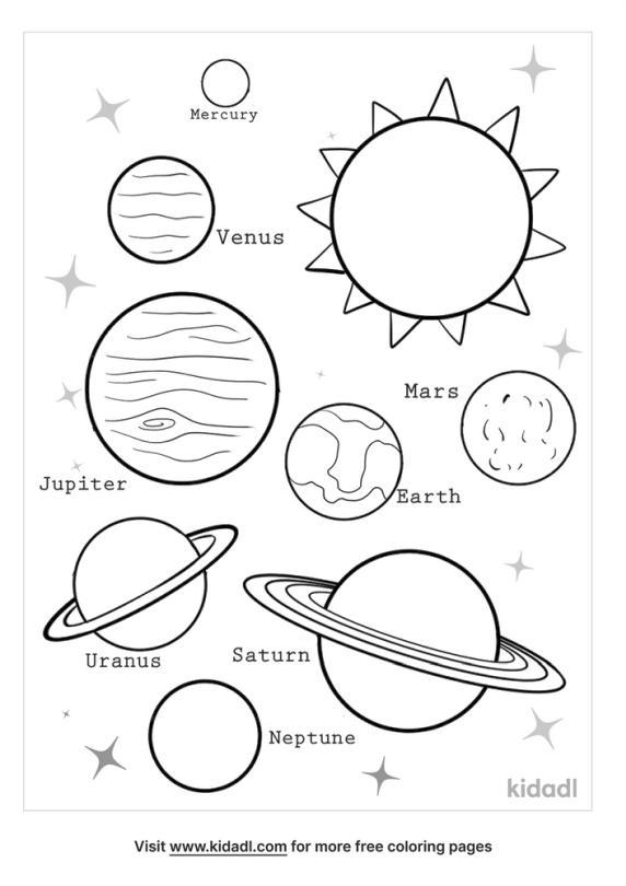 Solar System Coloring Worksheet for Kindergarten kdl5