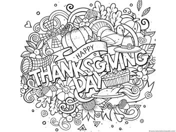 Thanksgiving Coloring Pages for Adult Happy Thanksgiving Day