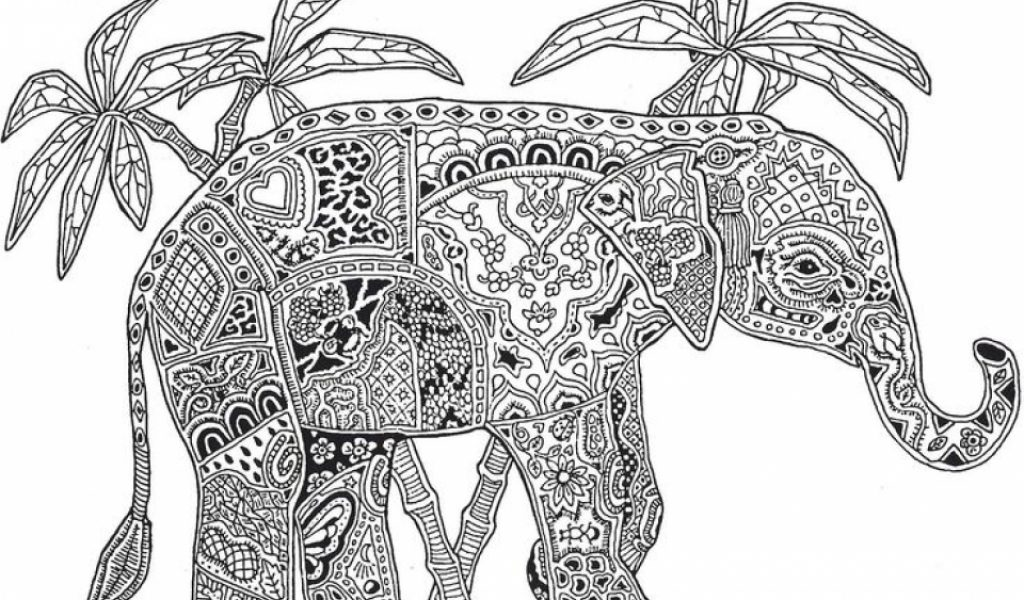 Get This Advanced Elephant Coloring Pages 6342900