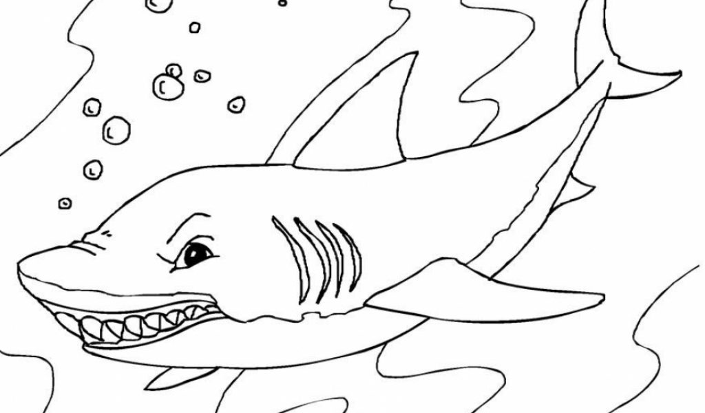 Giant Shark Fin Coloring Coloring Pages