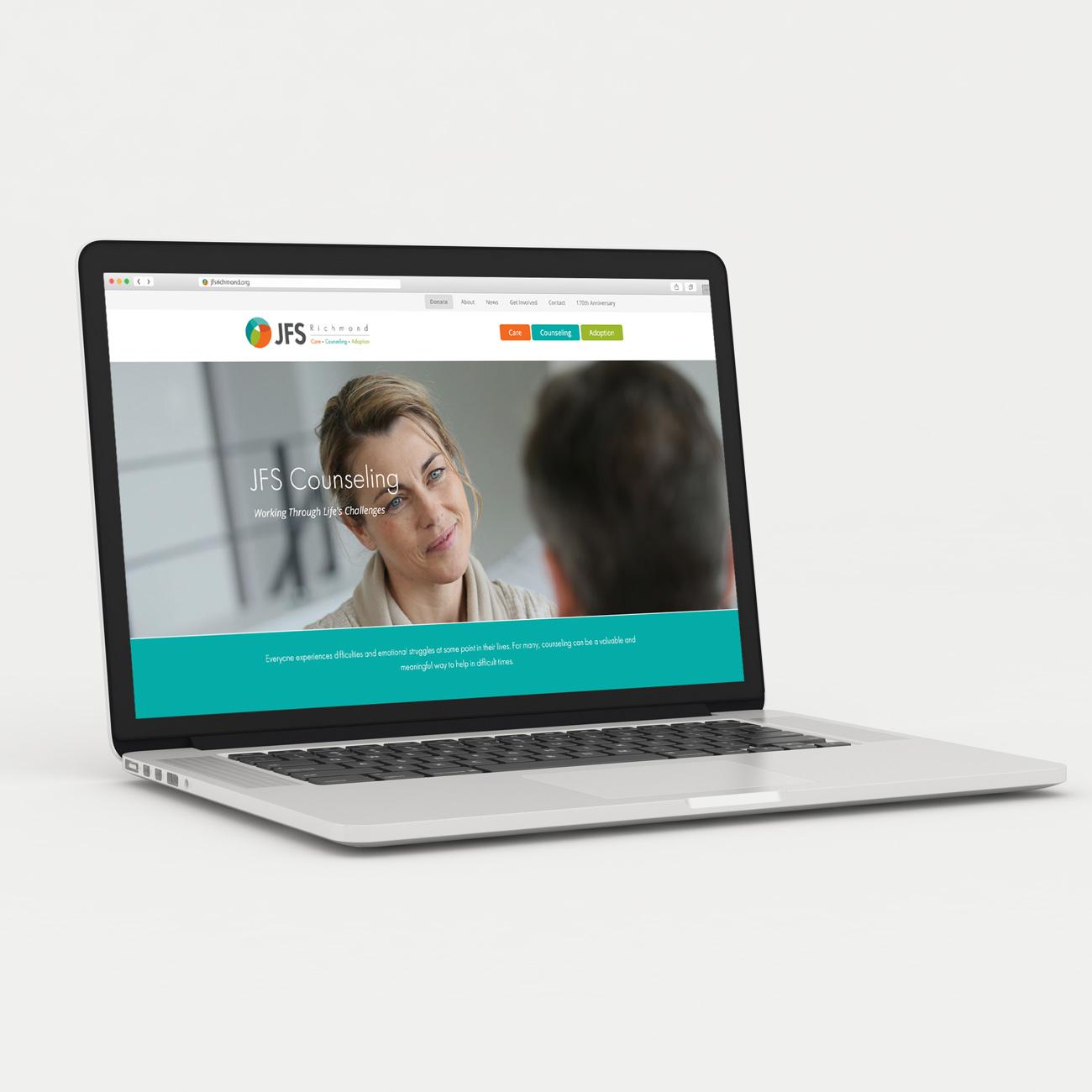 JFS Website on laptop