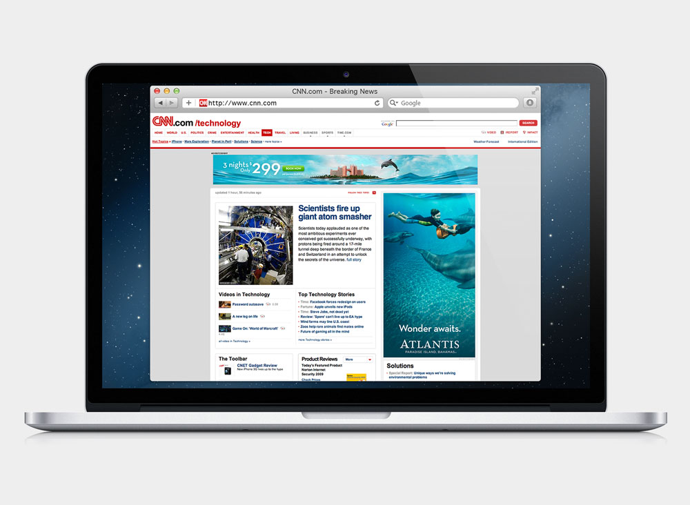 laptop banner ads