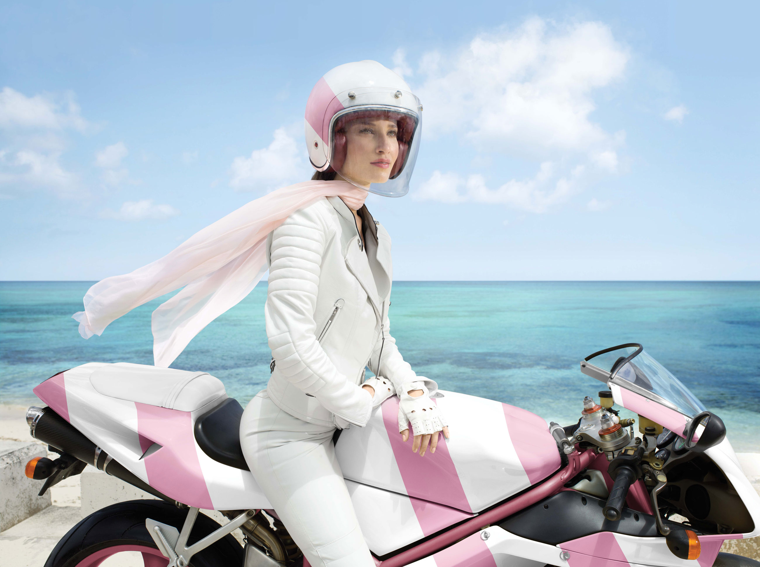 woman on motorcyle