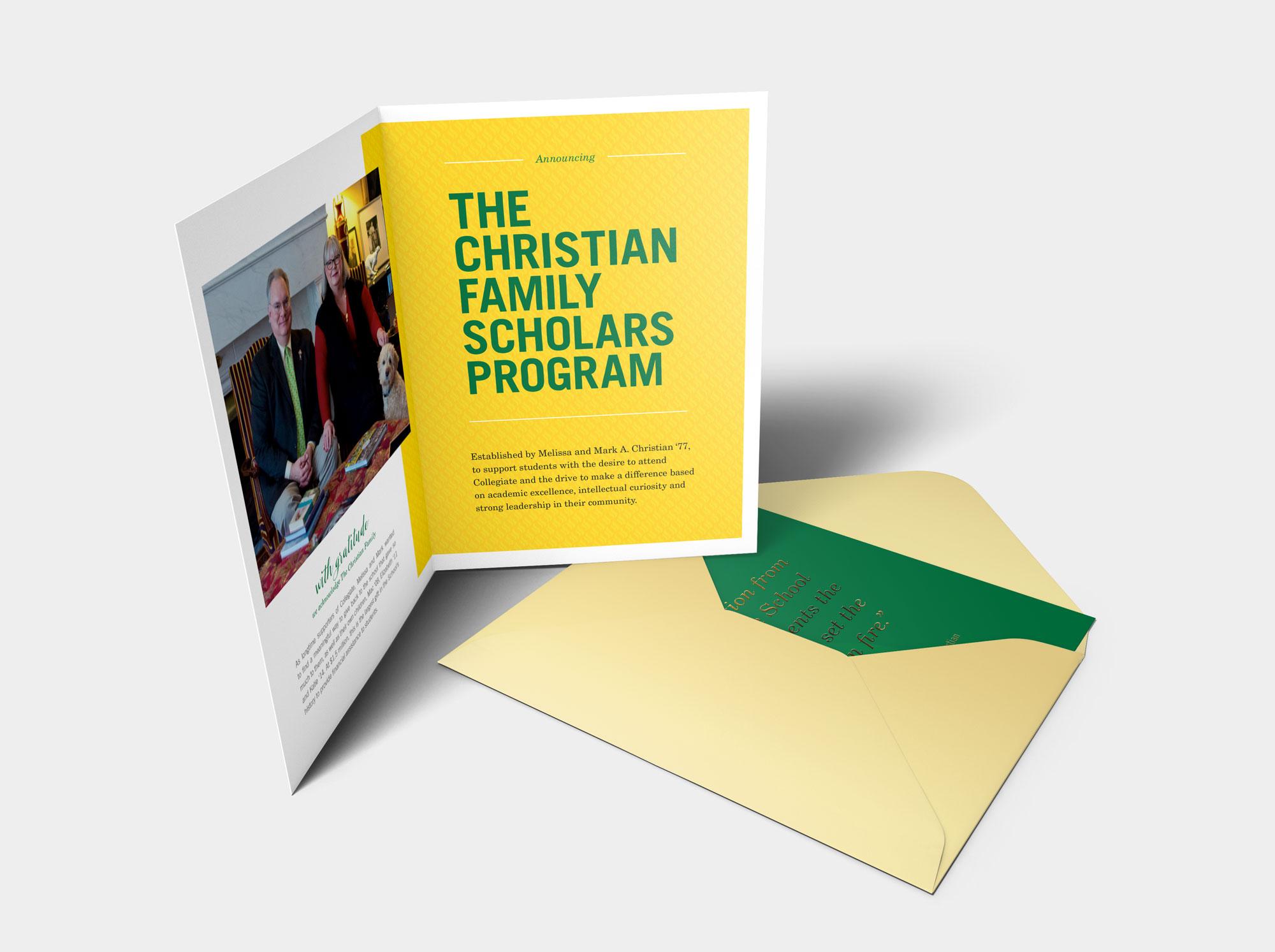 Scholars program announcement